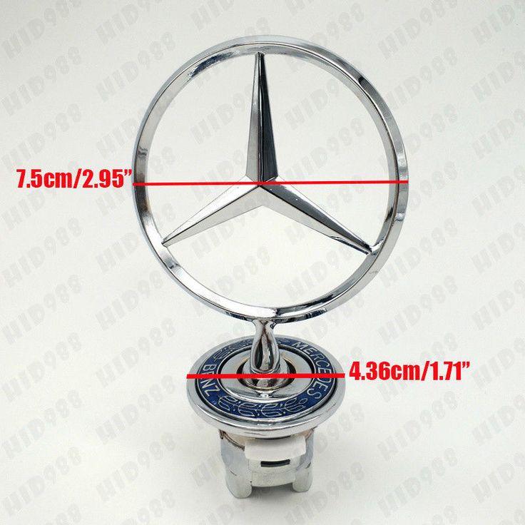 Cool Amazing Mercedes-Benz Star 3D Standing Badge Logo Hood Emblems Fit S260 C200 CLK430 E320 2018