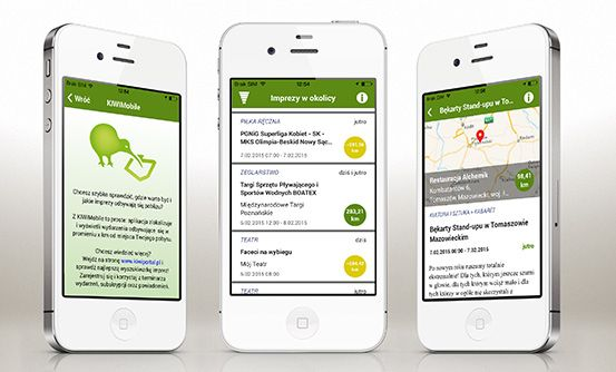 www.kiwiportal.pl - aplikacja mobilna do wyszukiwania najciekawszych wydarzeń w mieście na system iOS // iOS mobile app that helps you to find the most interesting events in your city