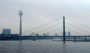 Rheinturm and bridge