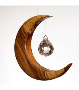 Medium Spalted Beech Suncatcher