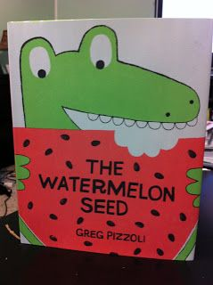 Cute new book about a crocodile who LOVES watermelon... until he eats a seed! Read this and do a watermelon activity