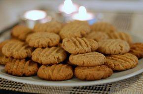 Svenskt recept. Peanut butter cookies