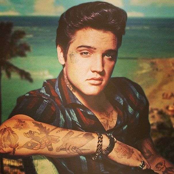 Best Celebrities Covered In Tattoos Images On Pinterest - Artist reimagines celebrities covered in tattoos