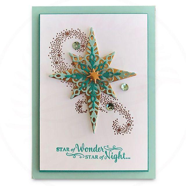 Card Making Starlight Metal Cutting Dies Christmas Stencil Crafts Scrapbookings