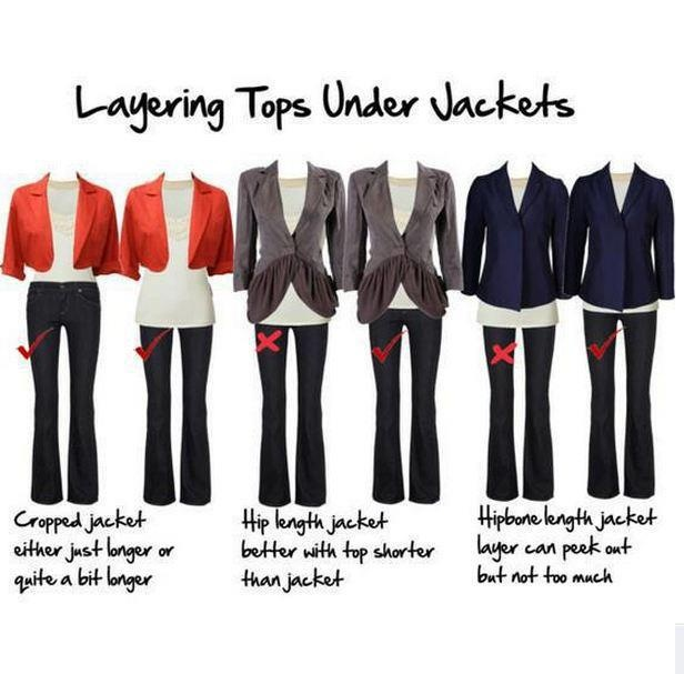 Layering Jackets and Tops can be tricky. Here are some dos and don'ts to make sure you are always looking stylish!