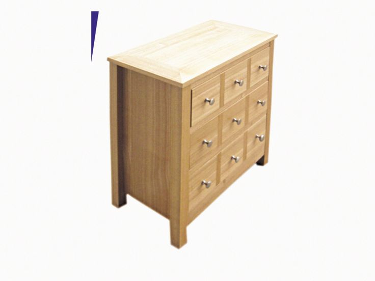 Multi Drawer Chest  Unit with 3 drawers but the handles cleverly give the impression of 9 drawers. L585mm x W320mm x H620mm