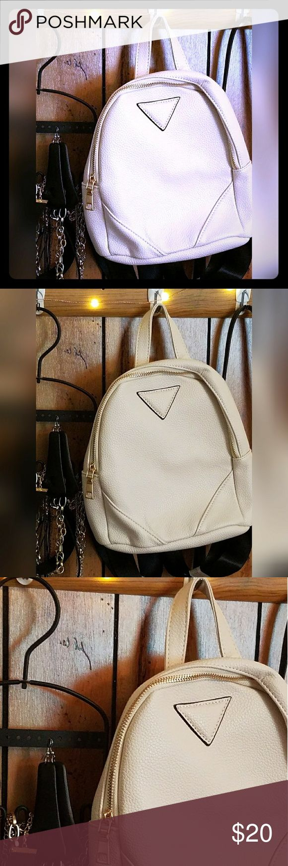 Charlotte Zip Detail Mini Rucksack in Nude Mini Rucksack - One Size from Boohoo w tags Boohoo Bags Mini Bags