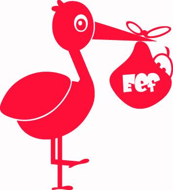 Geboortesticker type Eef