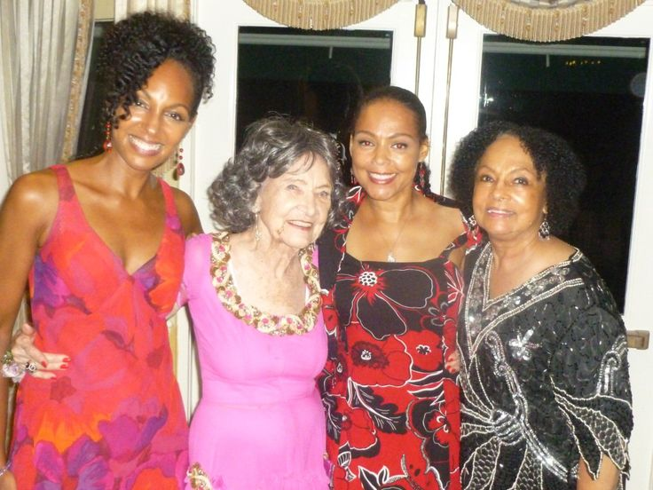 Dr. Terri Kennedy, Tao Porchon-Lynch, Sheila Kennedy, Janie Sykes-Kennedy at Tao's 94th birthday bash.