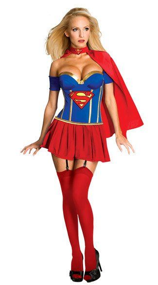 Supergirl Adult Sexy Women Halloween Character Costume Dress Everything- Hollywood Costuming One Size M (Bust Length   sc 1 st  Pinterest & 290 best COSTUME SHOP- EVERYTHING-HOLLYWOOD images on Pinterest ...