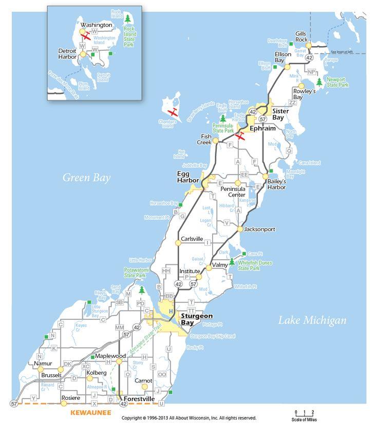 door county | Map of Door County, Wisconsin