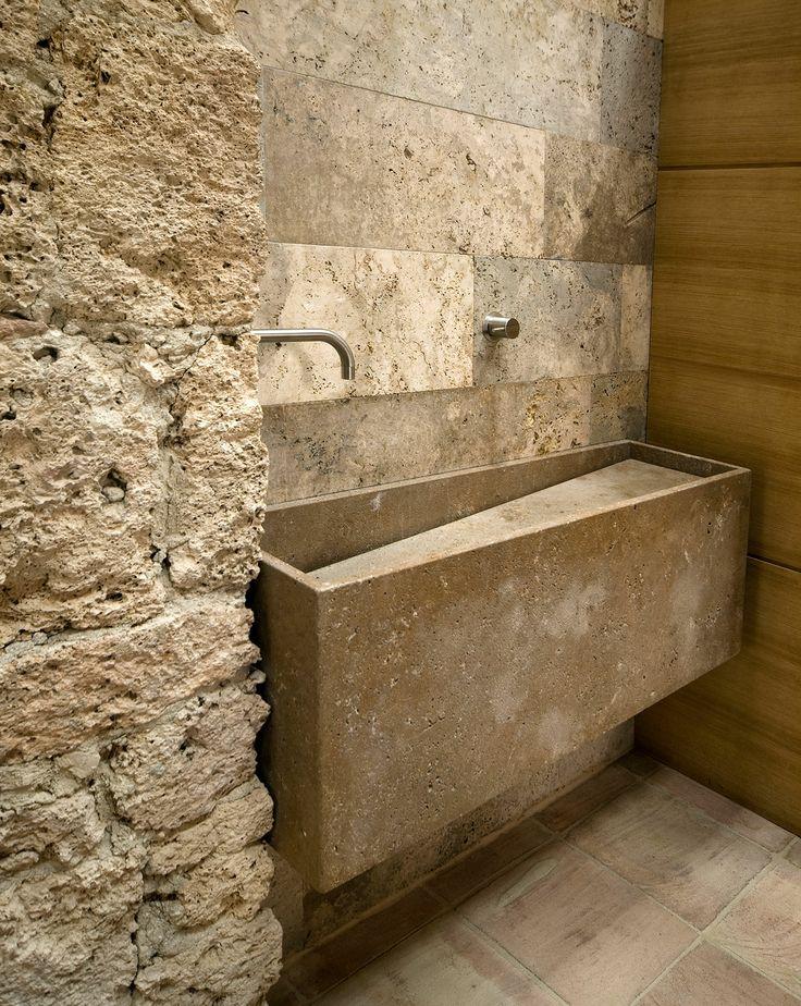 Custom Travertine Washbasin