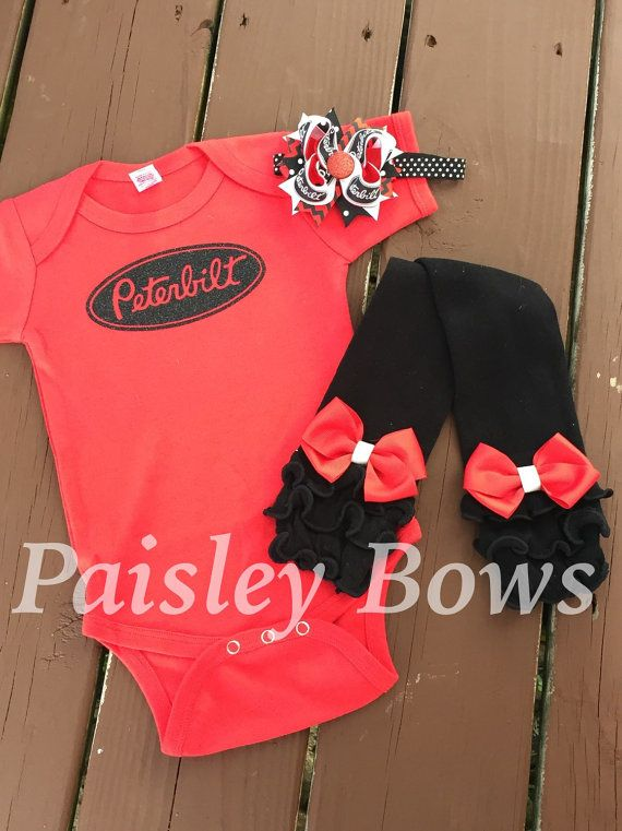 Precious little peterbilt onesie set Peterbilt by PaisleyBows