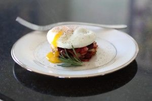 Root Vegetable Hash and Poached Egg- If you're on the Paleo diet but need a few more carbs, this is the perfect breakfast to get moving.