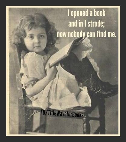 I opened a book and in I strode, now nobody can find me
