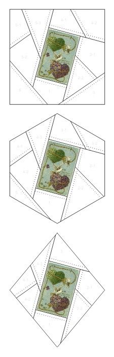 Birthday Greetings crazy quilt block patterns posted on Janet Stauffacher's Nostalgic NeedleART blog in 2012.