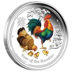 Perth ANDA Money Expo Special – 2017 Year of the Rooster 2oz Silver Proof Coloured Coin