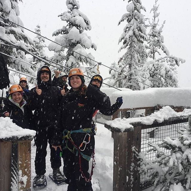 Our team was hard at work yesterday clearing the course after that huge 60cm powder surprise! ❄️❄️❄️ Forecast for the week: More snow on the way!!! 🙌  #OnlyInWhistler .  #ZiptrekLife photo by @emmmnics  .  .  .  #powday #snowday #winterwonderland #powderplayground #beautifulbc #explorebc #whistler #notjapan