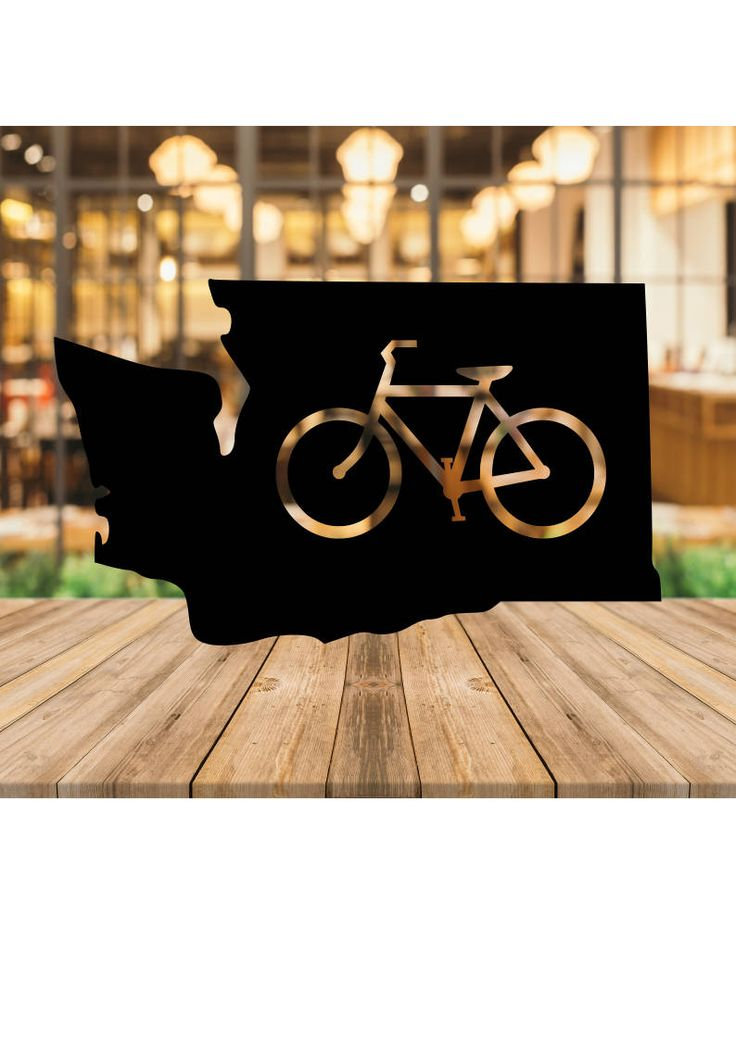 Washington State Bicycle, Cyclist Bikes Digital Instant Download SVG dXF PNG Cut Files for Cricut & Silhouette WA State, Pacific Nw, Pacnw by DizzyBellDesigns on Etsy