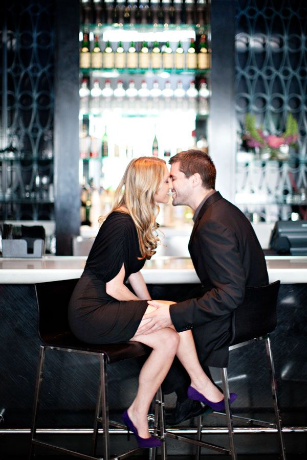 engagement photos in a bar - Google Search