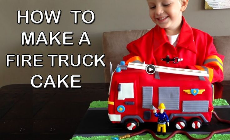 Fire Truck Cake HOW TO COOK THAT Fire Engine Birthday Cake (+playlist)