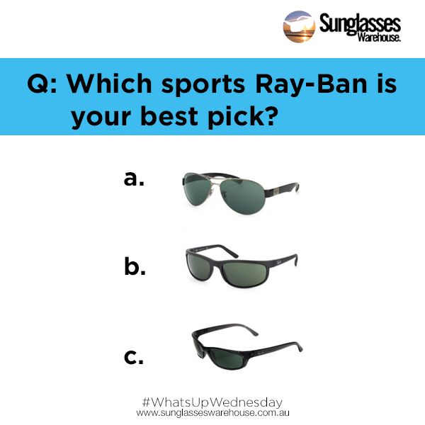 #WhatsUpWednesday: Which #sunglasses match your #active life? #RayBan gives you a variety of style to choose from!  See them here at: https://goo.gl/FvMrDt
