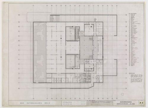 Ludwig Mies van der Rohe. New National Gallery, Berlin, Germany. 1967