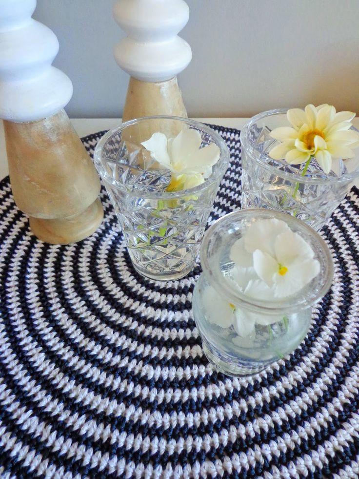Black and white crochet