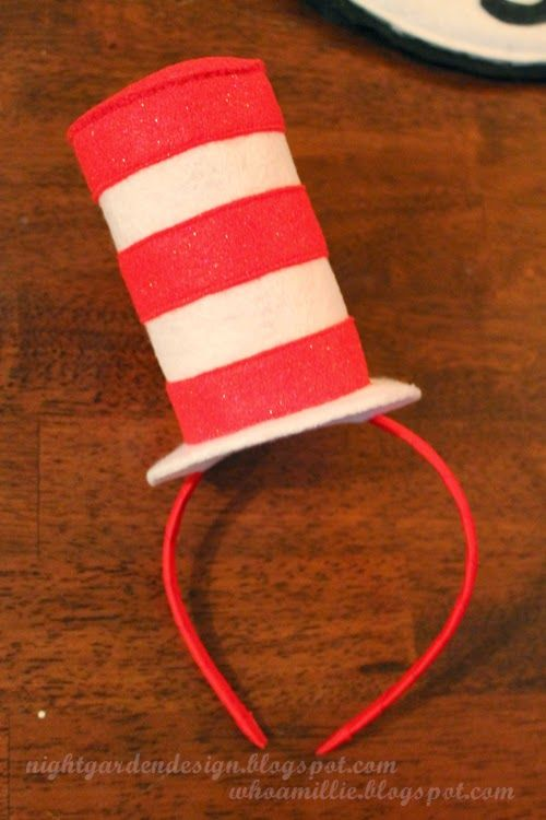 The Cat in the Hat mini top hat head bands diy / Night Garden Design blog