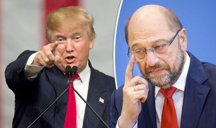 """THE election of Donald Trump could mean devastation for the European Union with the parliament's president Martin Schulz admitted relations just become """"harder""""."""