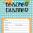 Planning and organizing is one of our biggest tasks as teachers; why not make it fun and stylish?!  This bright and colorful Teacher Lesson Planner...