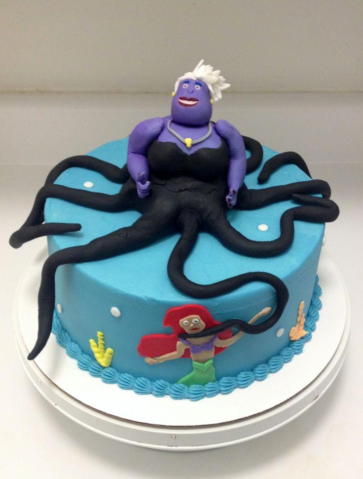 The Little Mermaid Cake Topper