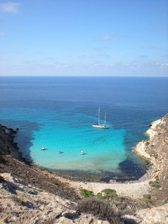 Spiaggia dei Conigli, (Rabbits Beach), Lampedusa island,