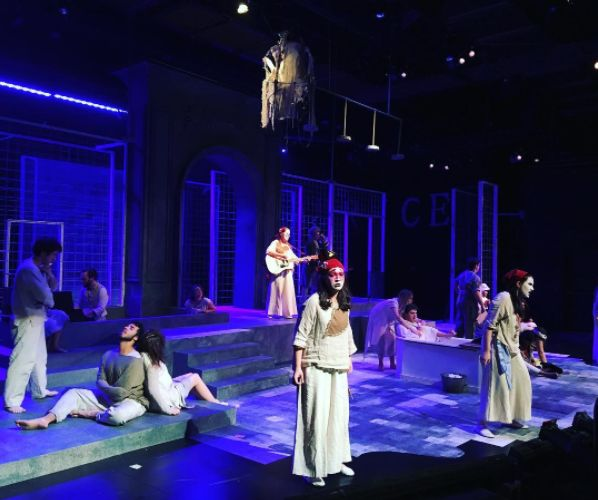 Our theatre department's wonderful and brilliant performance of Marat Sade.