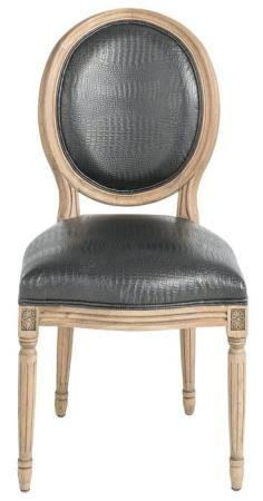 Meuble Chaise médaillon croco - Mobilier Chaises Signature