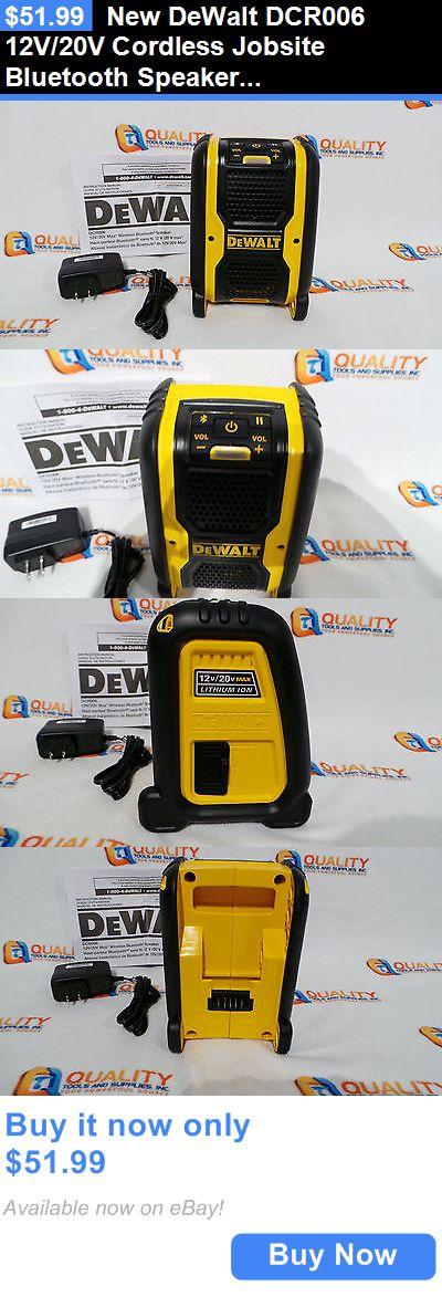 Portable Stereos Boomboxes: New Dewalt Dcr006 12V/20V Cordless Jobsite Bluetooth Speaker Dc/Ac Usb Port BUY IT NOW ONLY: $51.99