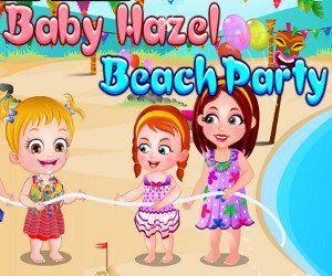 Una fiesta super bonita en la orilla del mar en compañia de las primas de Baby Hazel y de su amiga de corazón Kayla, http://www.babyhazelworld.com/game/juego-baby-hazel-beach-party