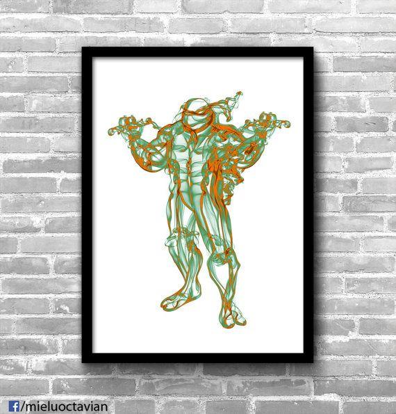 Michelangelo - smoke print