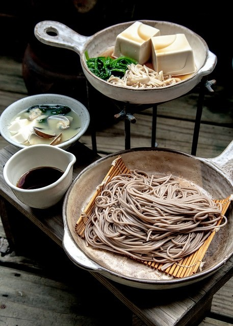 Japanese noodle, soba 蕎麦