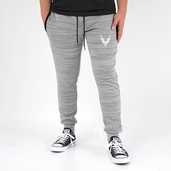 Maverick Grey Slim Fit Marled Joggers  93a5150f698