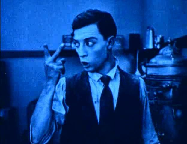 "Buster Keaton in Roscoe Arbuckle's short ""The Cook"" (1918)"