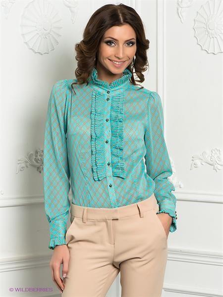 Блузка бирюзовая