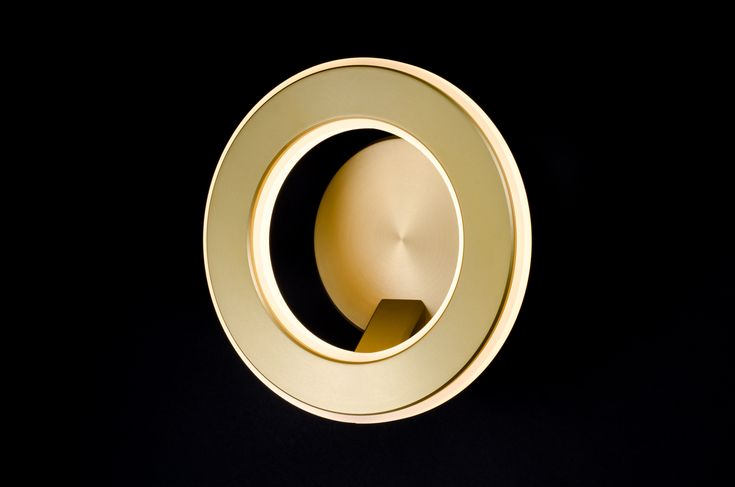 Custom lighting design - Electron Wall Sconce in GOLD.
