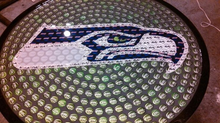Seattle Seahawks Bottle Cap Table Do You Want One This 1