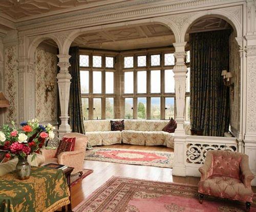 Decor, Bays Windows, Bench Seats, Drawing Room, Windows Seats, Movie Sets, Vintage Inspiration Fashion, English Manor, Reading Room