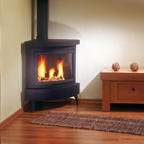 Free Standing Corner Gas Fireplace