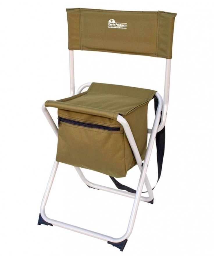 """""""Take-It-Anywhere"""" Compact Fishing & Outdoor Chair $35  Perfect Camp Chairs for Hunting, Fishing & All Outdoor Activities  Weight Capacity: 300 lbs. Extra-Strong Portable Chair w/Durable 19mm Steel Frame Built-In Storage Compartment Holds Ice Pack & Up to 6 Cans High Back Padded Backrest Support for Hours of Added Comfort Folding Camp Chairs Complete with Shoulder Strap Expanded Size: 29""""H x 12""""W x 13""""D Folded Size: 22""""H x 16""""W x 3""""D Seat Height: 18"""" Total Weight: 4.5 lbs."""