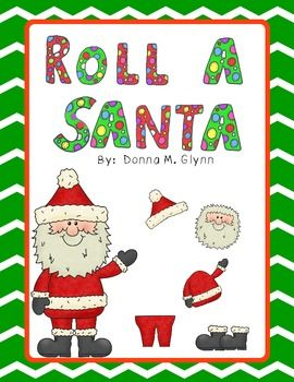 Do you love teaching number sense while your children are having fun.  This is for you.  Let your children become more aware of their numbers while rolling the dice and putting Santa back together so he can deliver all the presents to good girls and boys on Christmas Eve.