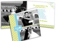 Dankeskarten Hochzeit - Vielen Dank - es wurde geheiratet!