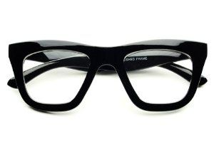 Vintage Retro Style Clear Lens Thick Framed Cat Eye Wayfarer Glasses (Black) by Vintage. $9.95. 100% 400UV Protection. Frame Width:  140mm. Trendy Look. Frame Height: 50mm. Thick Frame. Vintage style, clear lens square cat eye glasses in thick black or tortoise frame. Great quality. Perfect for any occasion!. Save 67% Off! http://eyesonbrickell.com/
